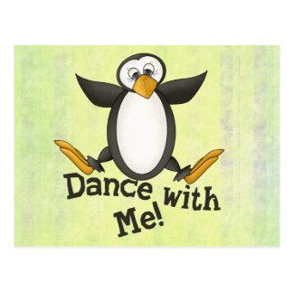 Carte Postale Pingouin de danse
