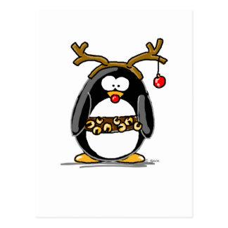 Carte Postale Pingouin de Rudolph