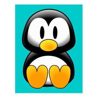 Carte Postale Pingouin drôle mignon de bébé