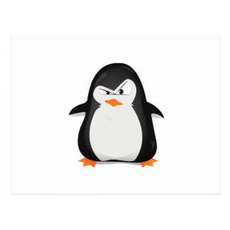 Carte Postale Pingouin fâché