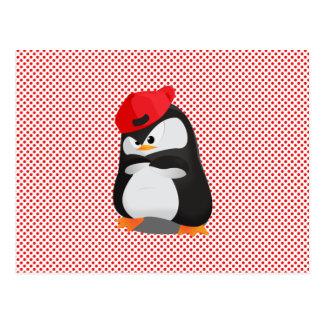 Carte Postale Pingouin fâché de hip hop