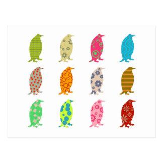 Carte Postale Pingouins modelés
