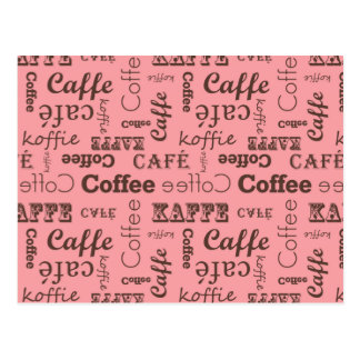 Carte Postale Pink Coffee Pattern