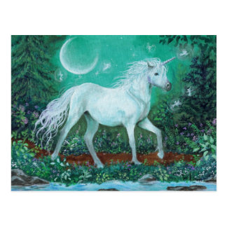 Carte Postale Pins de chuchotement de licorne