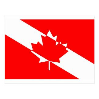 Carte Postale Piqué blanc rempli Canada