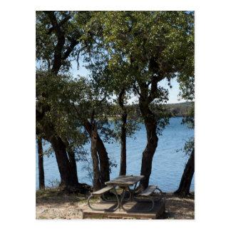Carte Postale Pique-nique au lac