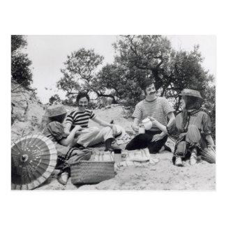 Carte Postale Pique-nique vintage d'Edwardian de photographie