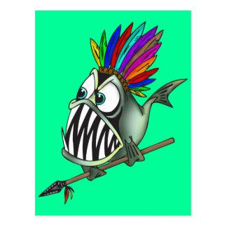 Carte Postale Piranha indigène