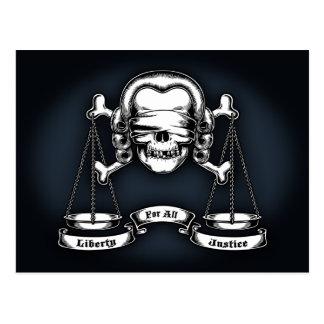Carte Postale Pirate de loi