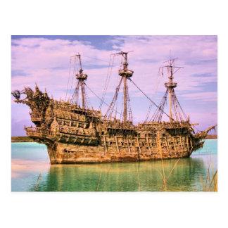Carte Postale Pirates rejetés de banc de sable des Caraïbe