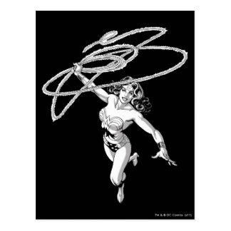 Carte Postale Pirouette noire et blanche de femme de merveille