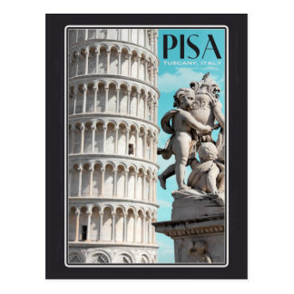Carte Postale Pise - la tour penchée