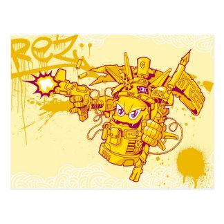 Carte Postale Pistolet de pulvérisation de Graffit