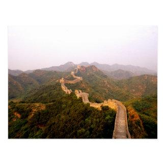 Carte Postale Pittoresque coloré à la Grande Muraille de la