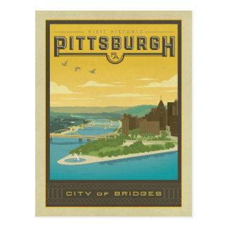 Carte Postale Pittsburgh, PA - ville des ponts