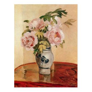 Carte Postale Pivoines roses de Camille Pissarro-
