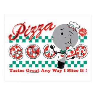 Carte Postale Pizza toute tranche de la manière I il rétro