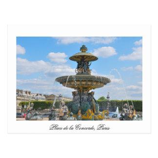 Carte Postale Place de la Concorde, Paris