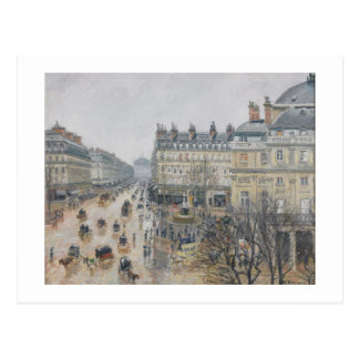 Carte Postale Place du Theatre Francais, Paris : Pluie, 1898