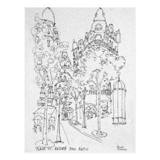 Carte Postale Placez les arts de DES de St André   Paris, France