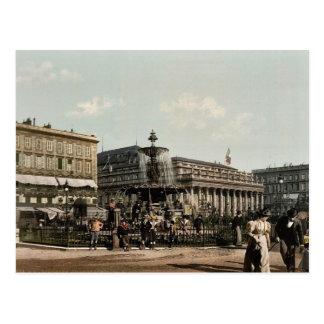 Carte Postale Placez Tourny et fontaine, classi de Bordeaux,