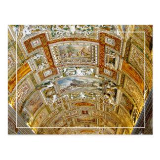 Carte Postale Plafond dans la galerie des cartes, musées de