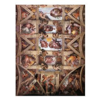 Carte Postale Plafond de chapelle de Sistine