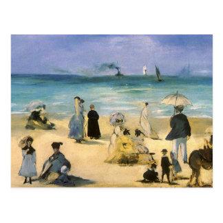 Carte Postale Plage à Boulogne par Manet, impressionisme vintage
