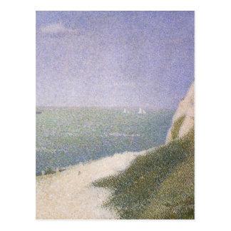Carte Postale Plage chez Honfleur par Georges Seurat, art