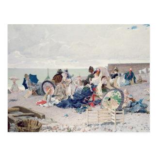 Carte Postale Plage chez Yport, 1878 (huile sur la toile)