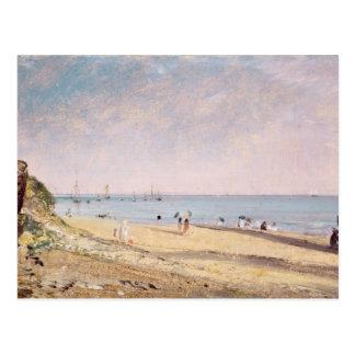 Carte Postale Plage de Brighton (huile sur la toile)