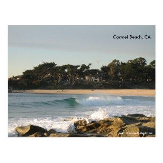 Carte Postale Plage de Carmel par le four de John