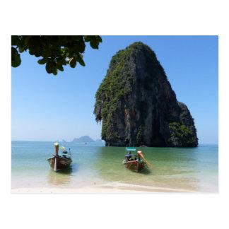Carte Postale Plage de Krabi, Thaïlande