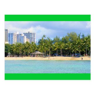 Carte Postale Plage de Kuhio chez Waikiki, Oahu, Hawaï