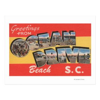 Carte Postale Plage d'entraînement de la Caroline du Sud - océan