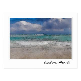 Carte Postale Plage des Caraïbes de l'océan | de Cancun Mexique
