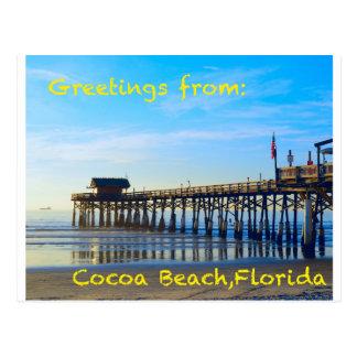 Carte Postale Plage la Floride de cacao