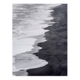Carte Postale Plage noire et blanche pittoresque