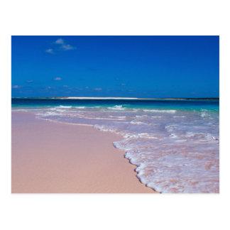 Carte Postale Plage rose de sable à la baie de conque, île de