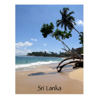 Carte Postale plage Sri Lanka d'unawatuna
