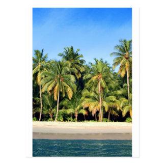 Carte Postale Plage tropicale abandonnée d'île