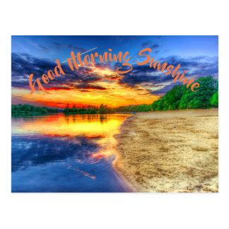 Carte Postale Plage tropicale de Sandy de lever de soleil