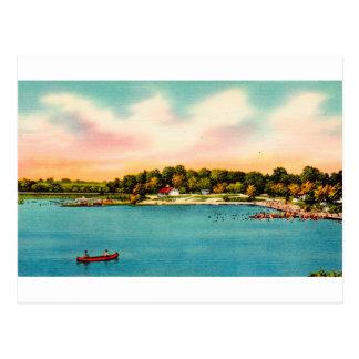Carte Postale Plages se baignantes DANBURY, conn. de lac
