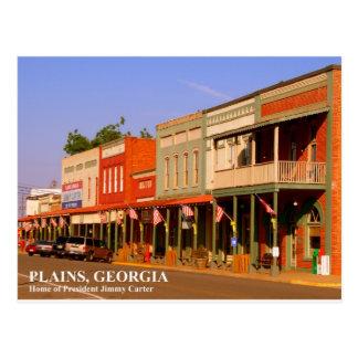 Carte Postale PLAINES, la GÉORGIE - à la maison du Président