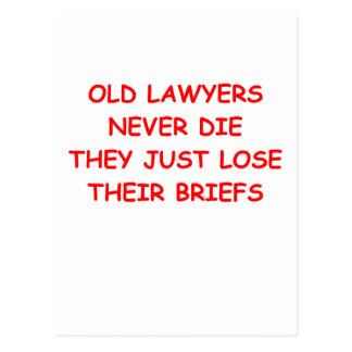 Carte Postale plaisanterie d'avocat