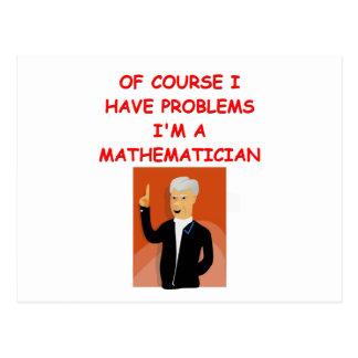 Carte Postale plaisanterie de maths