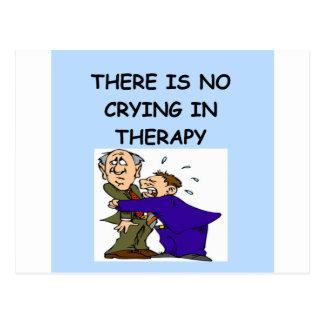 Carte Postale plaisanterie de thérapie
