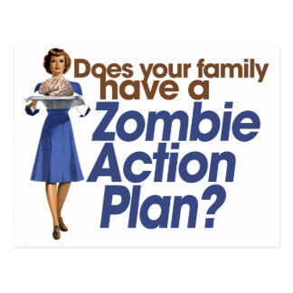 Carte Postale Plan d'action de zombi