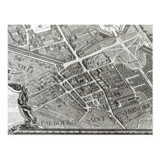 Carte Postale Plan de Paris, connu sous le nom de 'Plan de