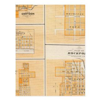Carte Postale Plan de Rockport, Spencer Co avec Everton